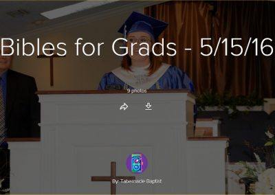 Bibles for Grads 2016
